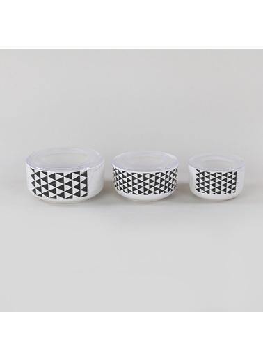 Keramika Keramika 12 14 16 cm 3 ParÇa Trigon 3/4 Kera Saklama Kabı Renkli